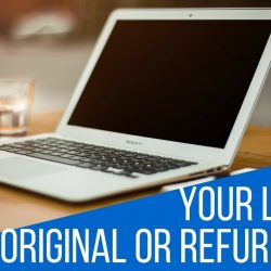 How to check if laptop is new or refurbished?